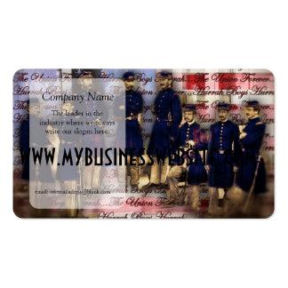 unión de los soldados de la unión del vintage para tarjetas de visita