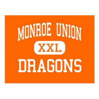 Unión de Monroe - dragones - alta - Monroe Oregon Postales