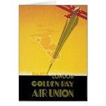 Unión de oro del aire del rayo tarjeta