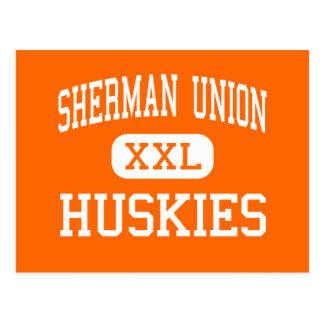 Unión de Sherman - perros esquimales - alta - Moro Tarjetas Postales