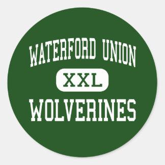 Unión de Waterford - carcayúes - alta - Waterford Pegatina Redonda