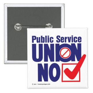 ¡Unión del servicio público NO! - Botón