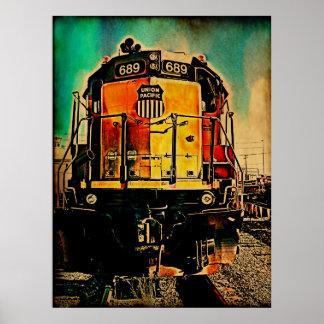 Unión del tren póster