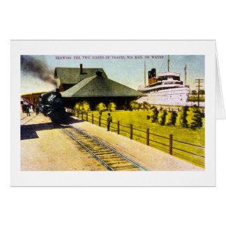 Union Depot in Sault Ste. Marie, Michigan Greeting Card