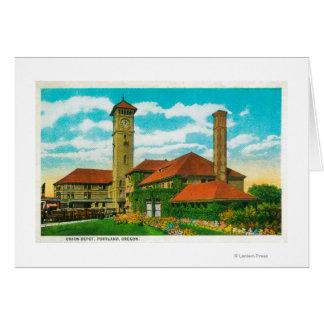 Union Depot Railroad Station in Portland, Greeting Card