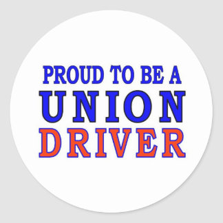 UNION DRIVER CLASSIC ROUND STICKER