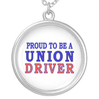 UNION DRIVER ROUND PENDANT NECKLACE