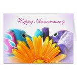 Unión dulce - aniversario feliz tarjeta