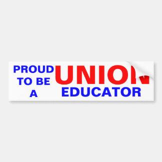 UNION EDUCATOR BUMPER STICKER