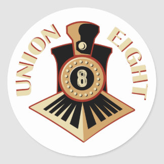 Union Eight Signature Logo Classic Round Sticker