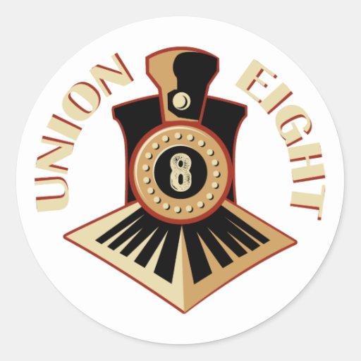 Union Eight Signature Logo Sticker