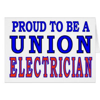 UNION ELECTRICIAN CARD
