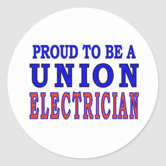 UNION ELECTRICIAN CLASSIC ROUND STICKER