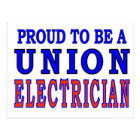UNION ELECTRICIAN POSTCARD