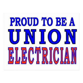 UNION ELECTRICIAN POSTCARD