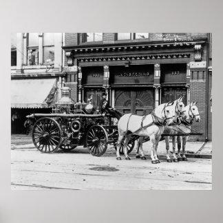 Union Engine No. 3: 1911 Poster