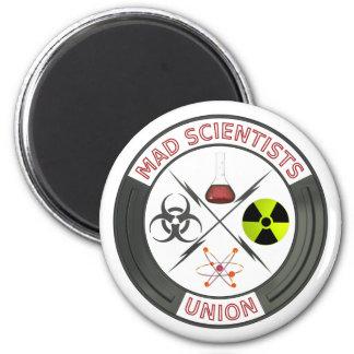 Unión enojada del científico imán redondo 5 cm