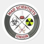 Unión enojada del científico pegatina