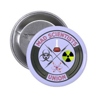Unión enojada del científico pin