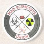 Unión enojada del científico posavasos diseño