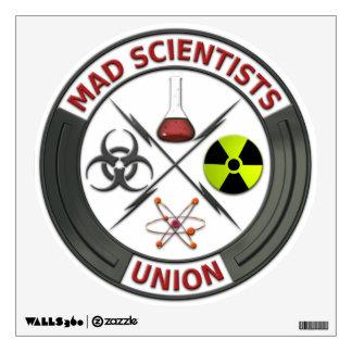 Unión enojada del científico vinilo decorativo