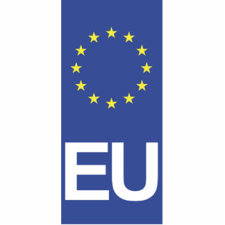 Unión europea fotoescultura vertical