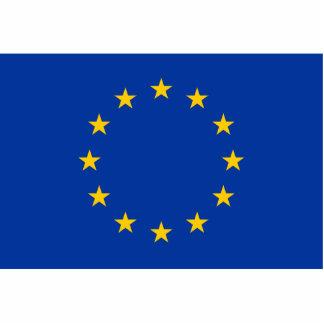 Unión europea - la UE señala por medio de una band Fotoescultura Vertical