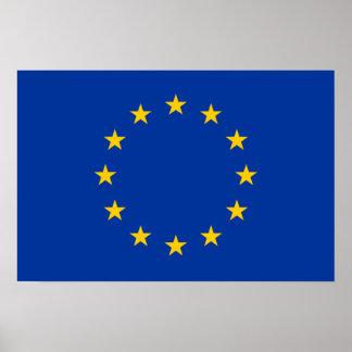 Unión europea - la UE señala por medio de una band Impresiones