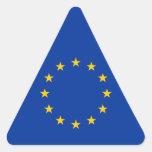Unión europea - la UE señala por medio de una Pegatina Triangular
