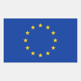 Unión europea - la UE señala por medio de una Pegatina Rectangular