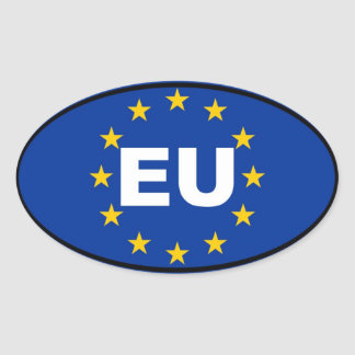 Unión europea - UE Calcomania De Oval