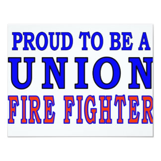 UNION FIRE FIGHTERS CARD