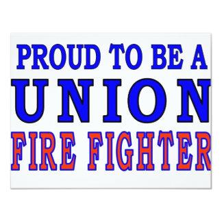 UNION FIRE FIGHTERS INVITES