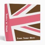 Union Flag Binder (Brown/Pink) CUSTOMIZABLE