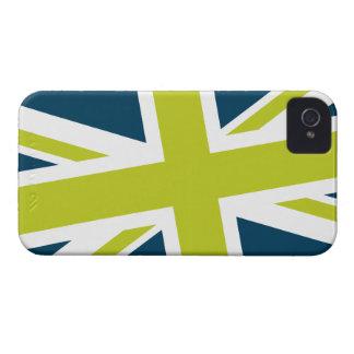 Union Flag Blackberry Case (Navy/Lime)