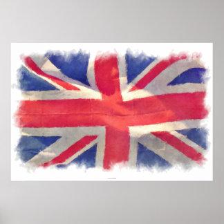 Union Flag British Flag Patriotic Grunge Poster