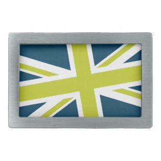Union Flag Buckle — Rectangle (Navy/Lime) Belt Buckles