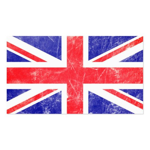 Union flag double sided standard business cards pack of for Union made business cards