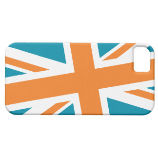 Union Flag iPhone Case (Teal/Orange)