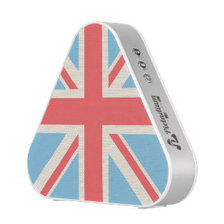 Union Flag/Jack Design Cream, Light Blue & Red Bluetooth Speaker