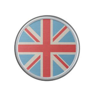 Union Flag/Jack Design Cream, Light Blue & Red Speaker