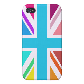 Union Flag/Jack Design - Multicoloured iPhone 4 Covers