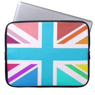 Union Flag/Jack Design - Multicoloured Laptop Sleeve