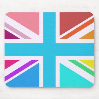 Union Flag/Jack Design - Multicoloured Mouse Pad