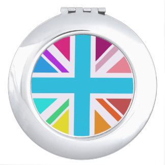 Union Flag/Jack Design - Multicoloured Makeup Mirror