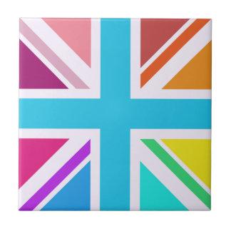 Union Flag/Jack Design - Multicoloured Small Square Tile