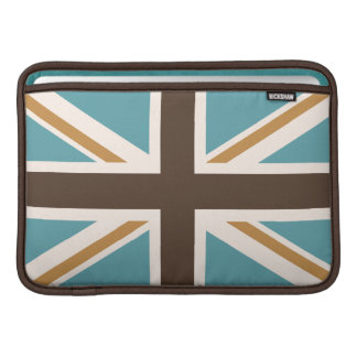 Union Flag/Jack Teal Brown Gold Cream Sleeve For MacBook Air