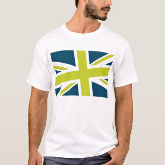 Union Flag Men's Shirt (Navy/Lime) CUSTOMIZABLE