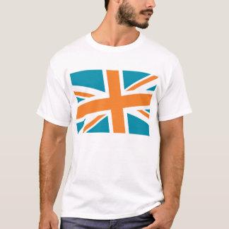 Union Flag Men's Shirt (Teal/Orange) CUSTOMIZABLE