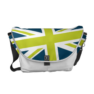 Union Flag Messenger Bag (Navy/Lime)